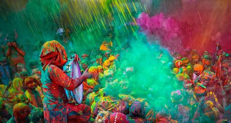 Large best places to celebrate holi in india