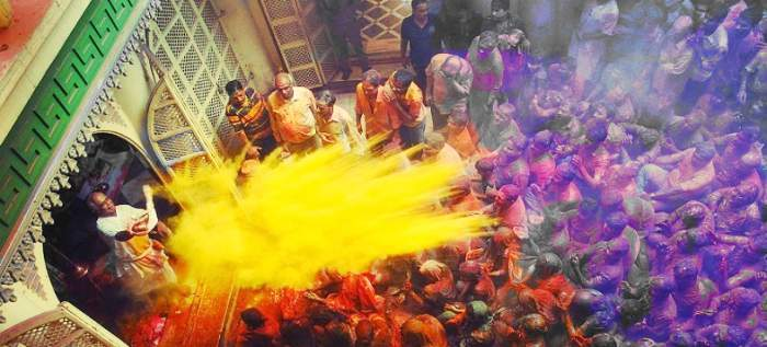 Thumb holi in vridavan