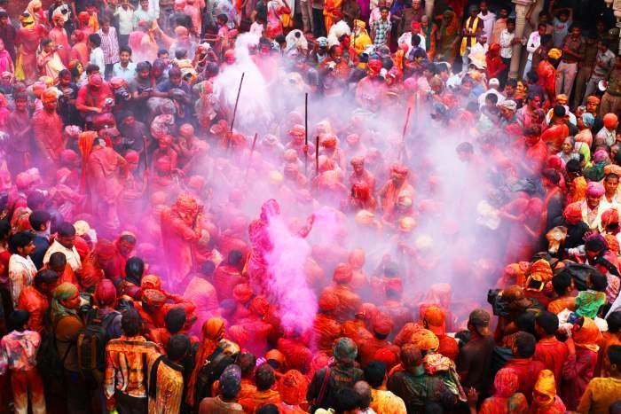 Thumb barsana holi festival