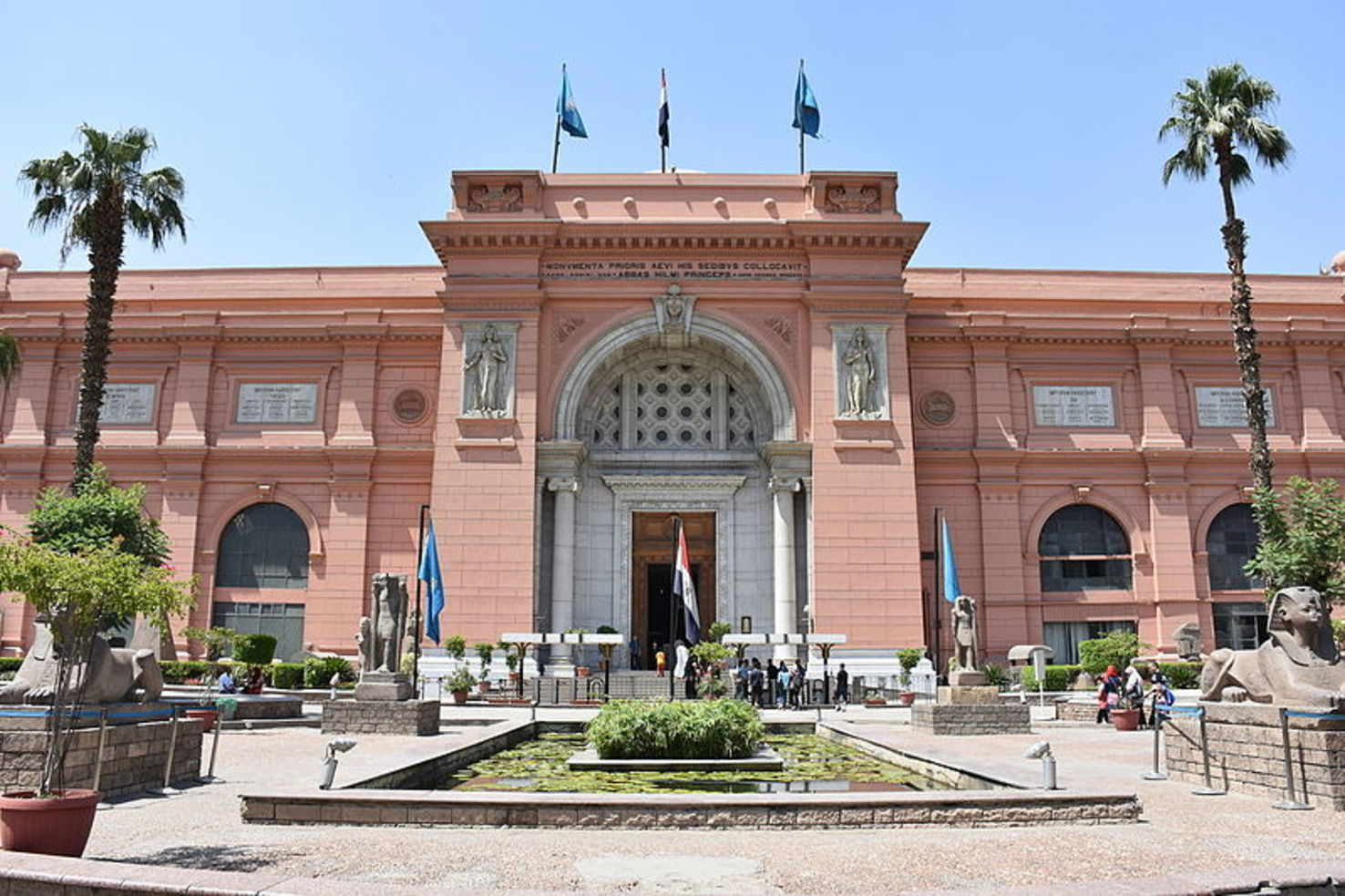 Large egyptian museum in cairo in may