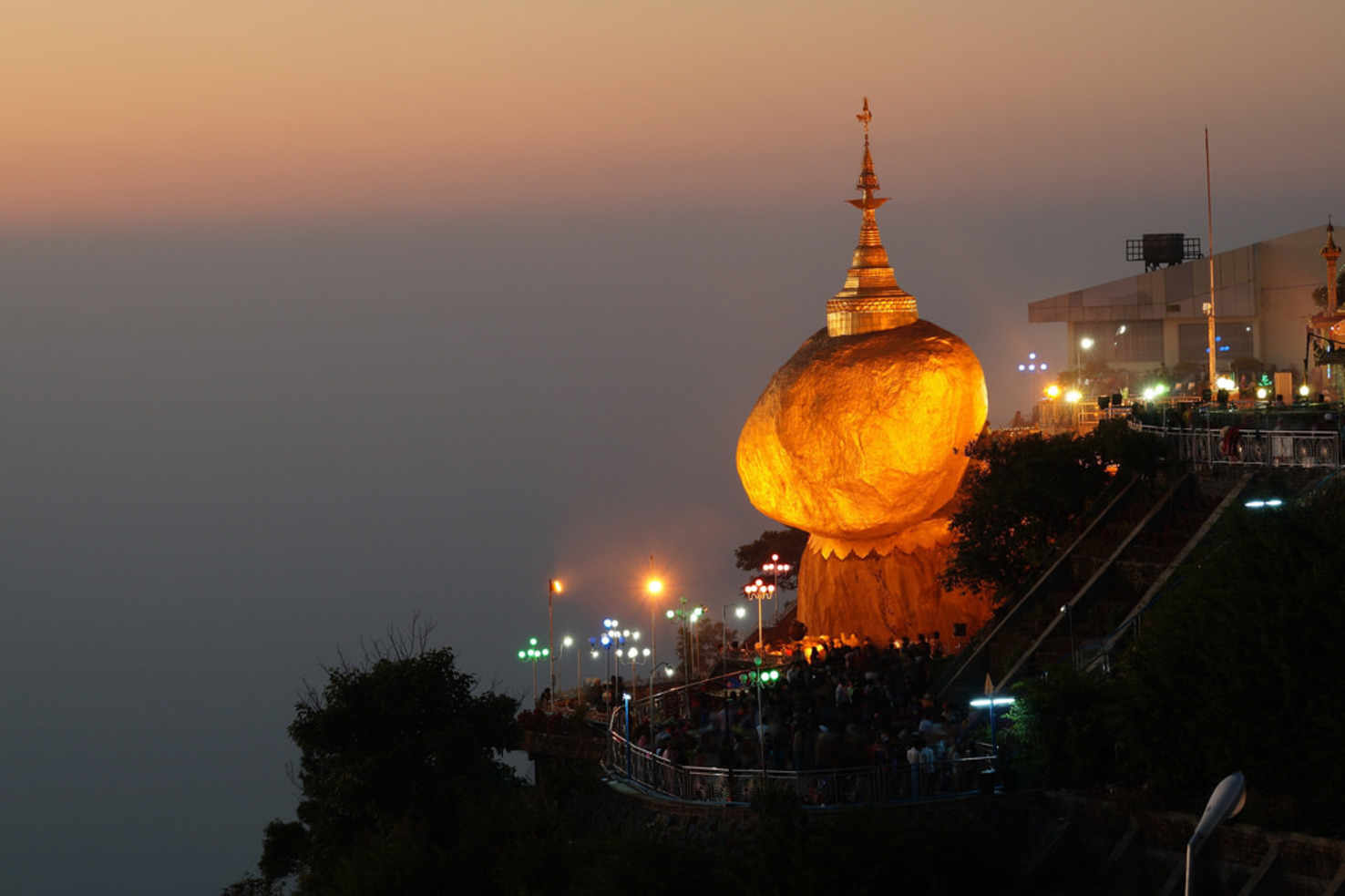 Large golden stupa burma