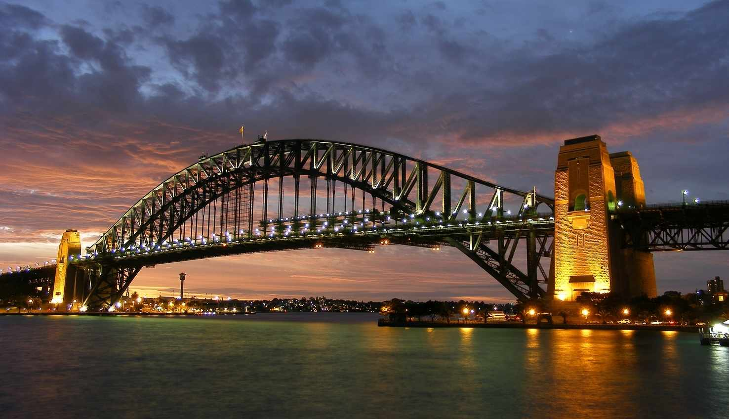 Large sydney harbour bridge new south wales