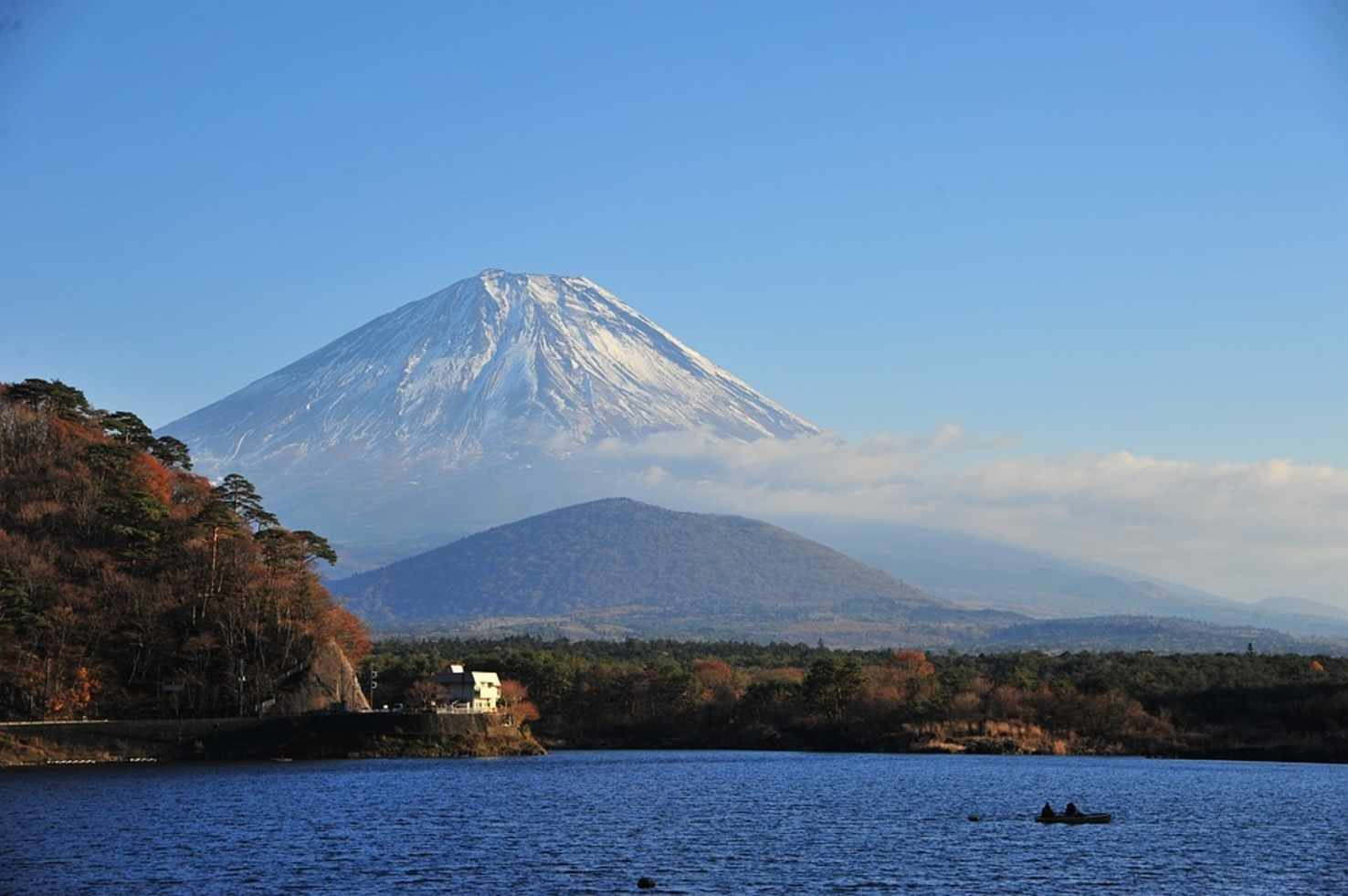Large mt fuji lake