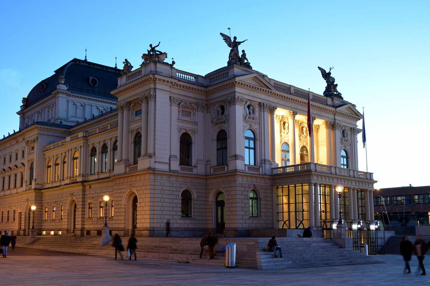 Large opera house zurich  switzerland