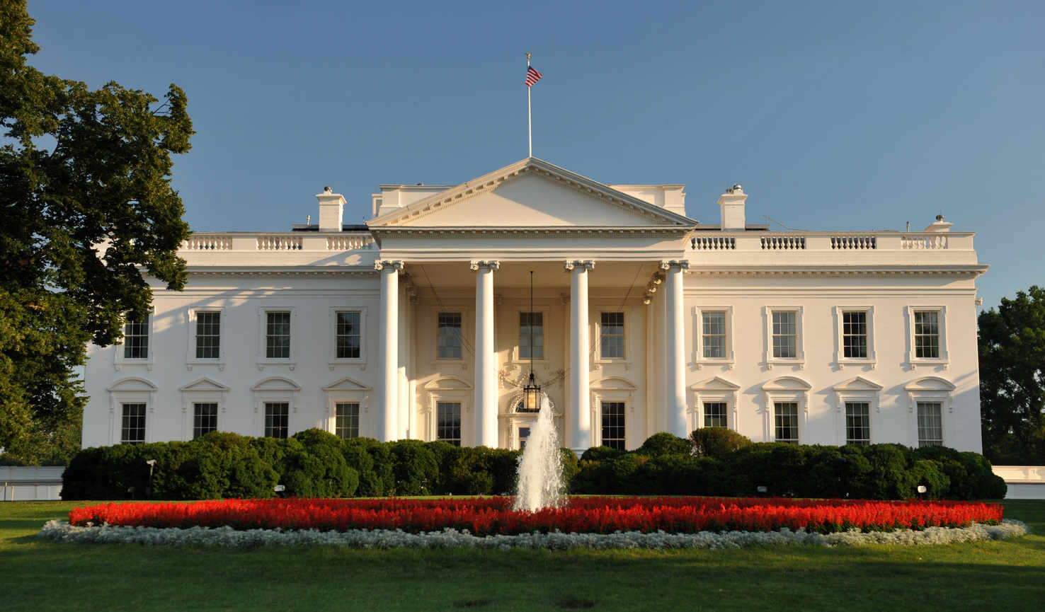 Large white house washington