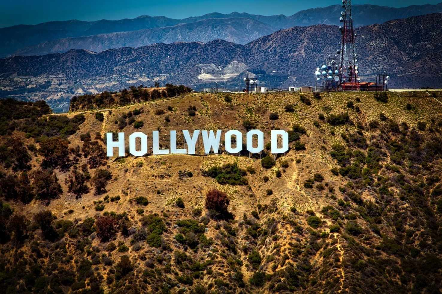 Large hollywood sign