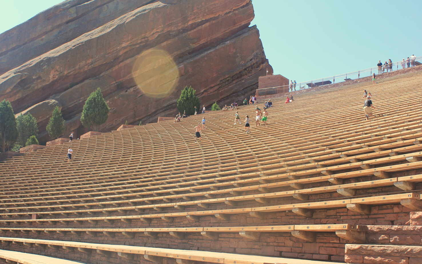 Large red rock amphitheatre seatings