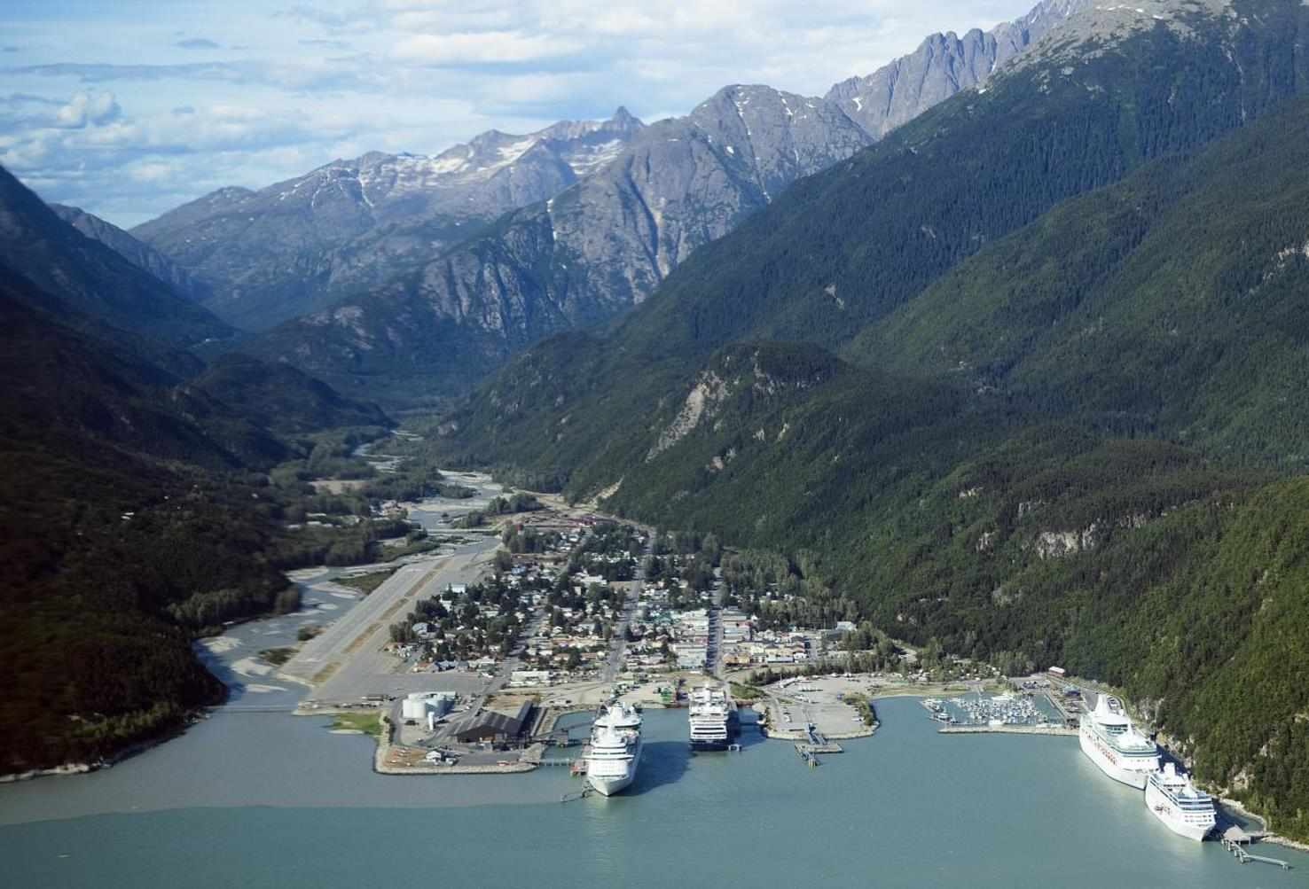 Large skagway aerial view