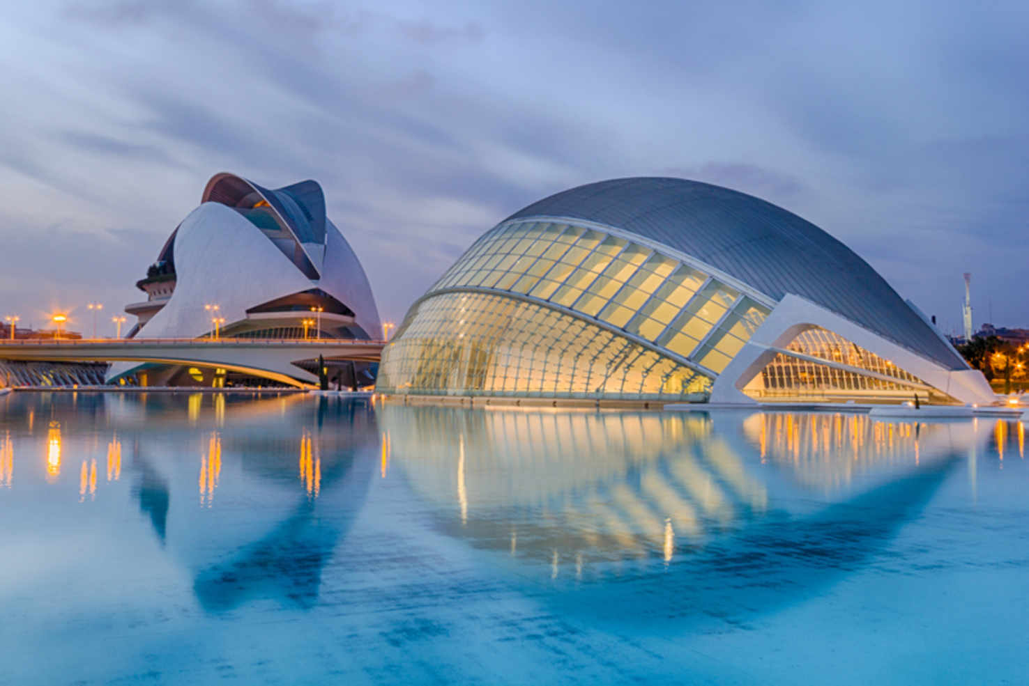 Large city of arts in valencia spain
