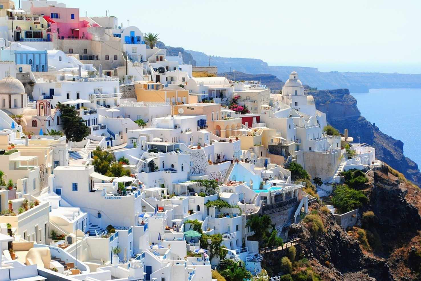 Large vacation travel summer santorini holidays greece