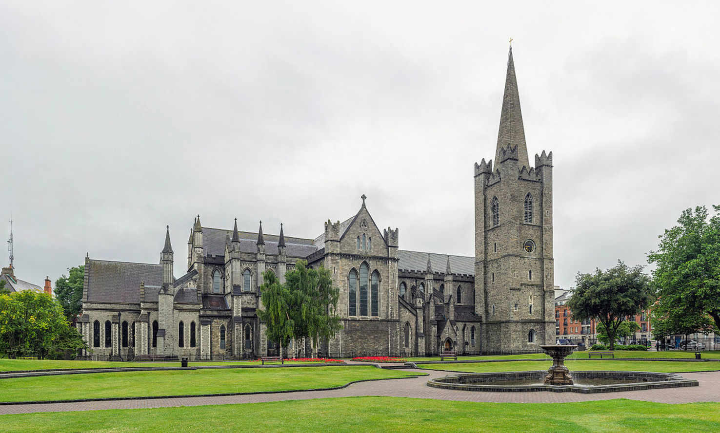 Large st patrick s cathedral exterior  dublin  ireland   diliff