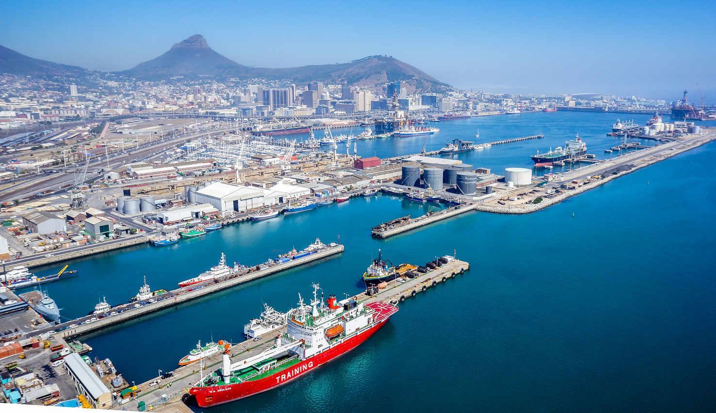 Large port of cape town