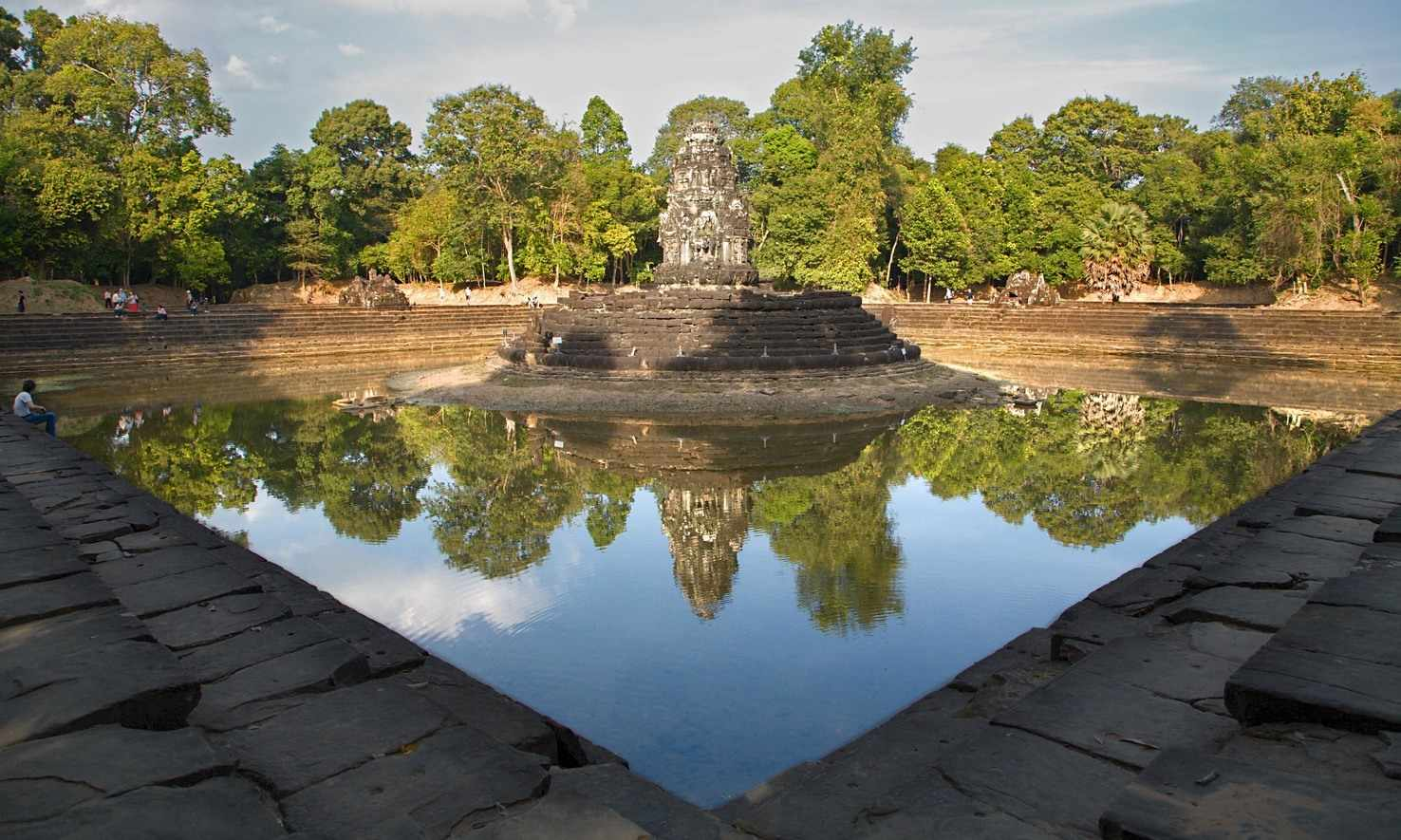 Large siem reap reflections  cambodia reflection neak pean  ii