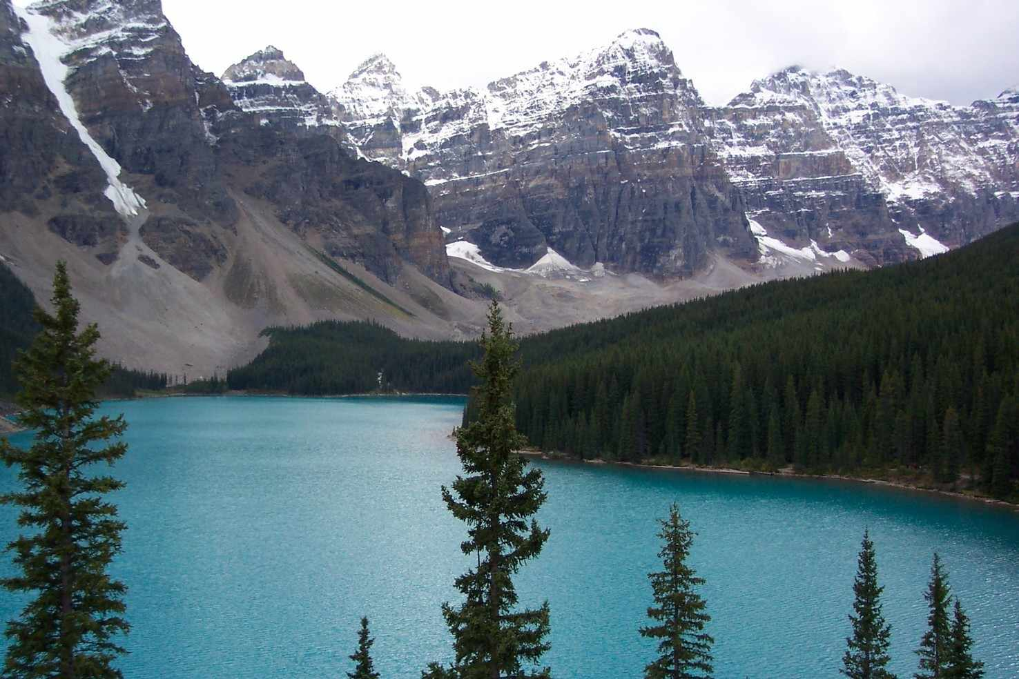 Large moraine lake in banff national park