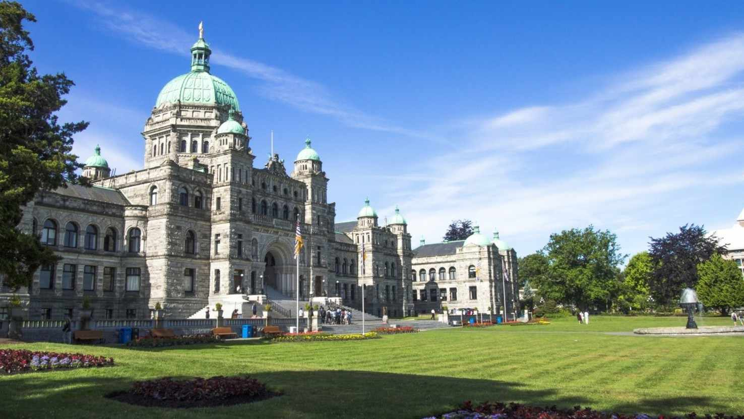 Large the parliament buildings located victoria bc canada vancouver