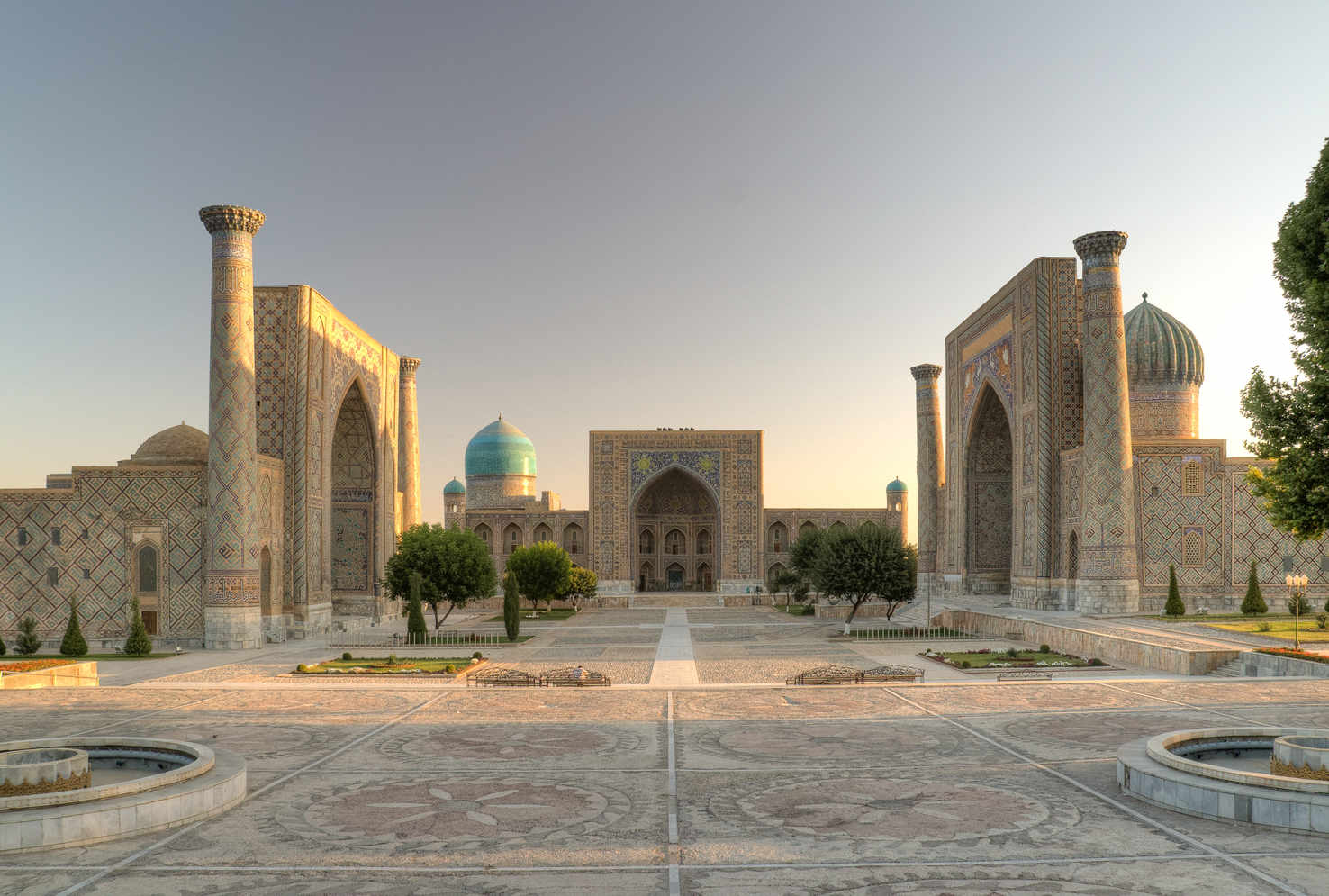Large registan square samarkand