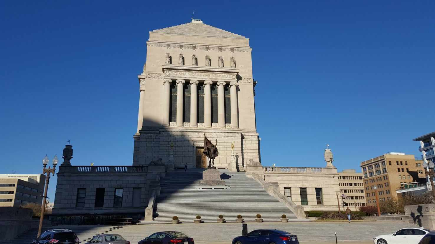 Large indiana war memorial   indianapolis