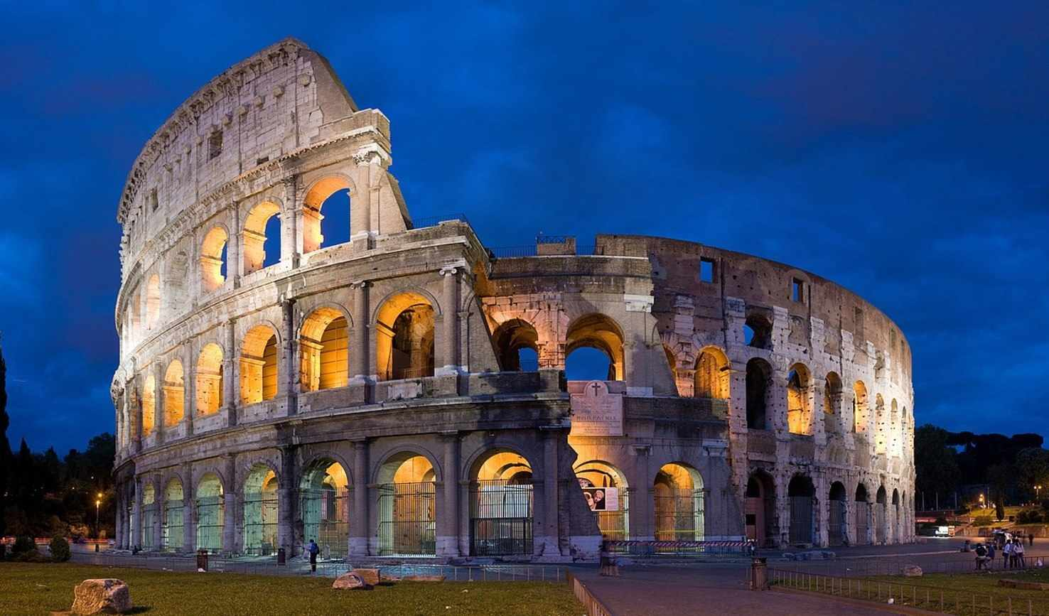 Large colosseum in rome