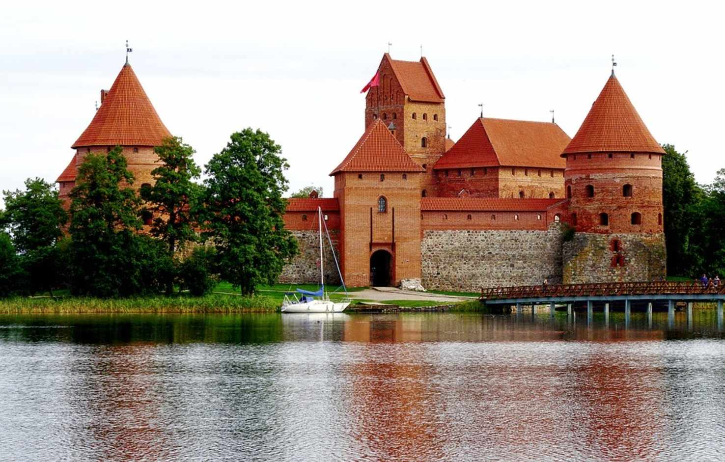 Large trakai castle