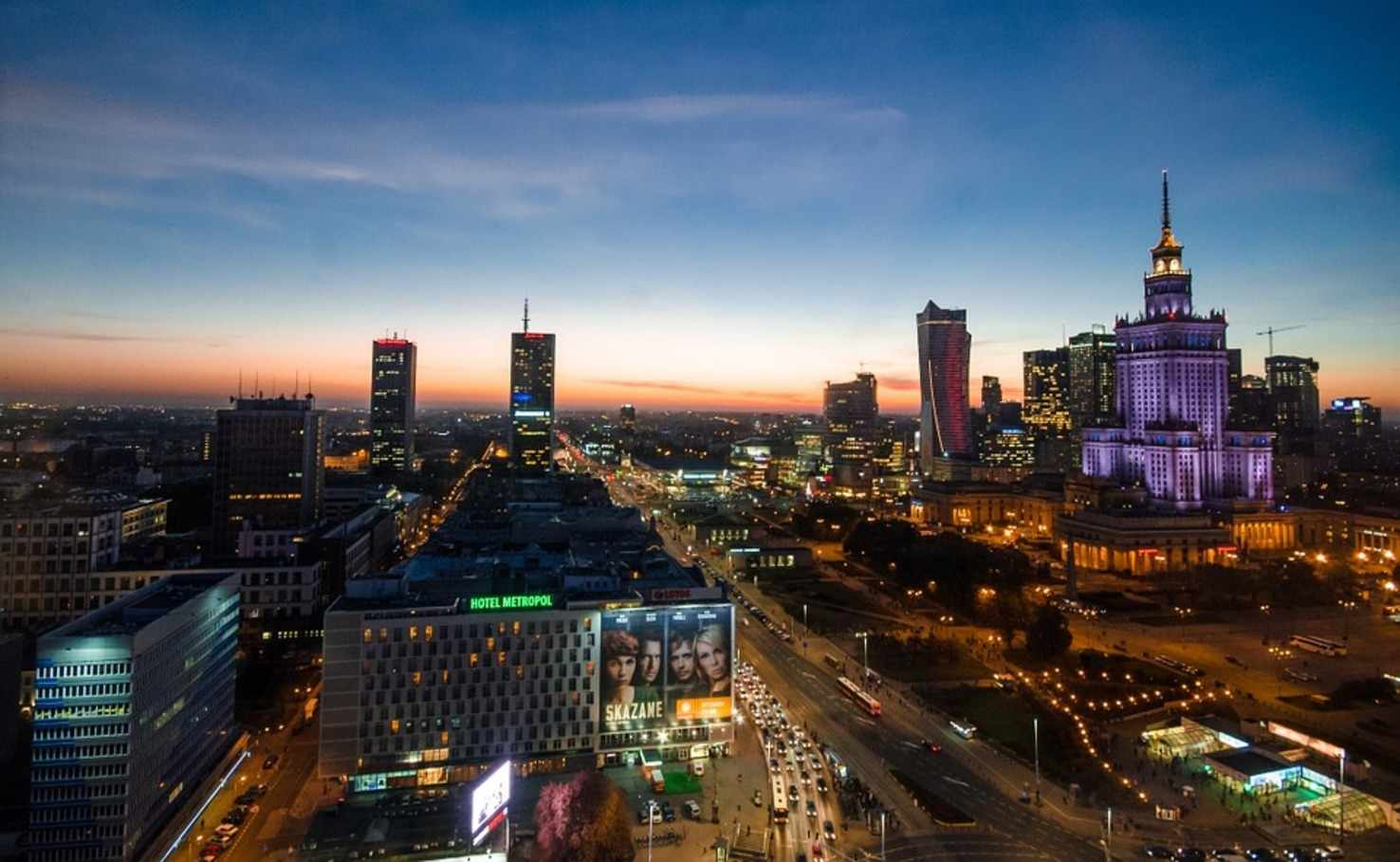 Large warsaw nightlife