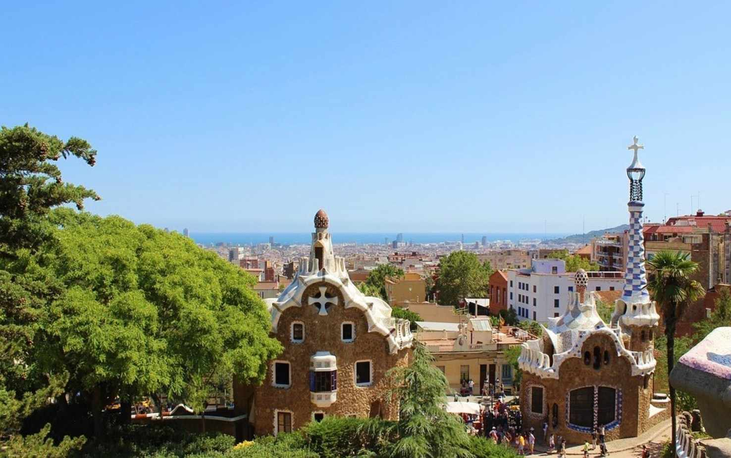 Large barcelona park guell