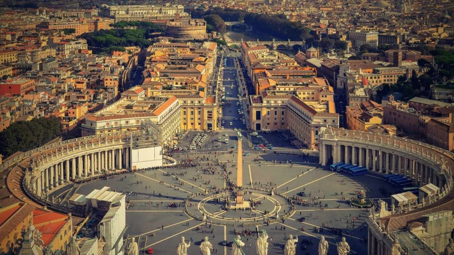 Large rome the vatican italy st peter s square piazza san pietro buildings history 1203844