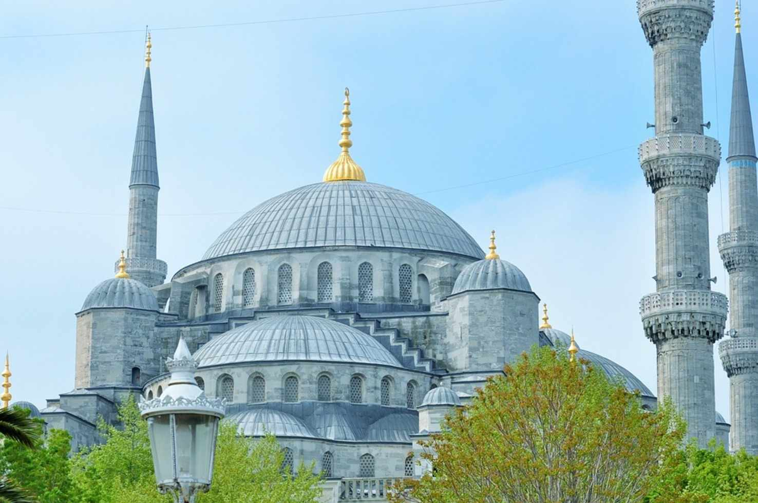 Large blue mosque