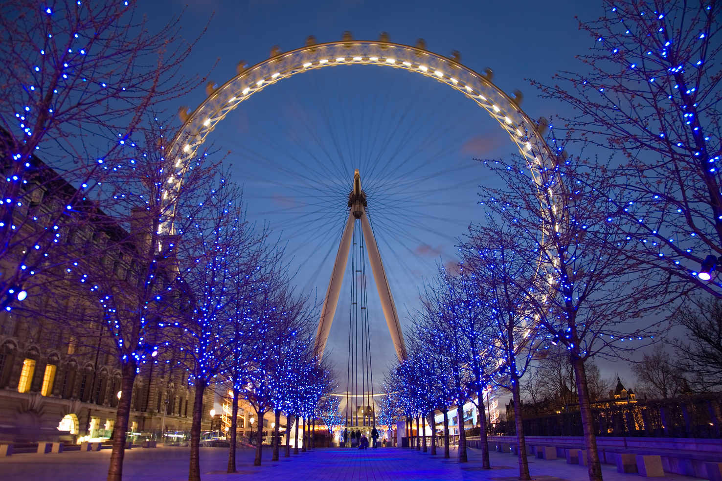 Large london eye twilight