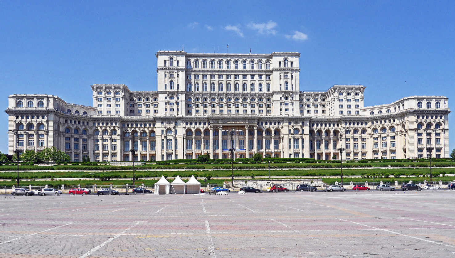 Large parliament palace in bucharest romania